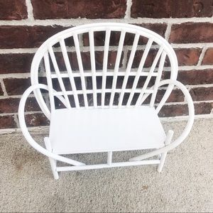 Other - Mini White Chair Home Plant Decor